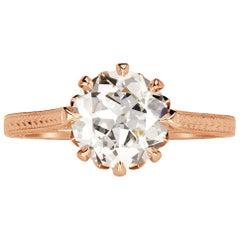 Mark Broumand 2.00 Carat Old European Cut Diamond Engagement Ring