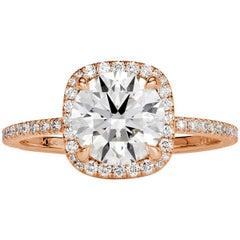 Mark Broumand 2.03 Carat Round Brilliant Cut Diamond Engagement Ring
