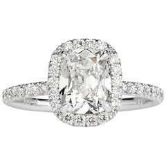 Mark Broumand 2.09 Carat Old Mine Cut Diamond Engagement Ring