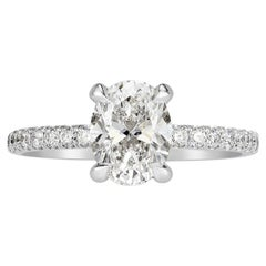 Mark Broumand 2.11 Carat Oval Cut Diamond Engagement Ring