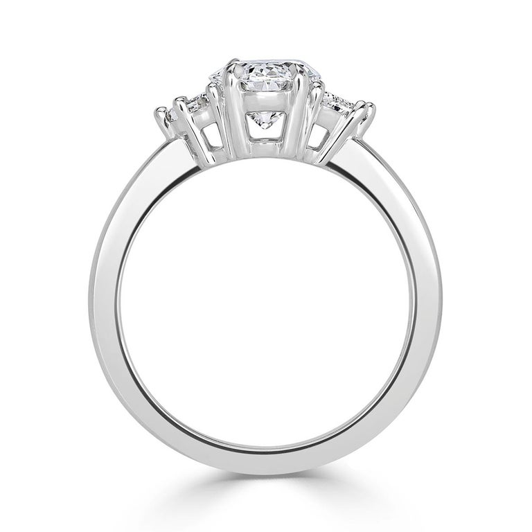 Mark Broumand 2.17 Carat Oval Cut Diamond Engagement Ring In New Condition For Sale In Los Angeles, CA