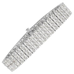 Mark Broumand 21.72 Carat Asscher Cut Diamond Bracelet