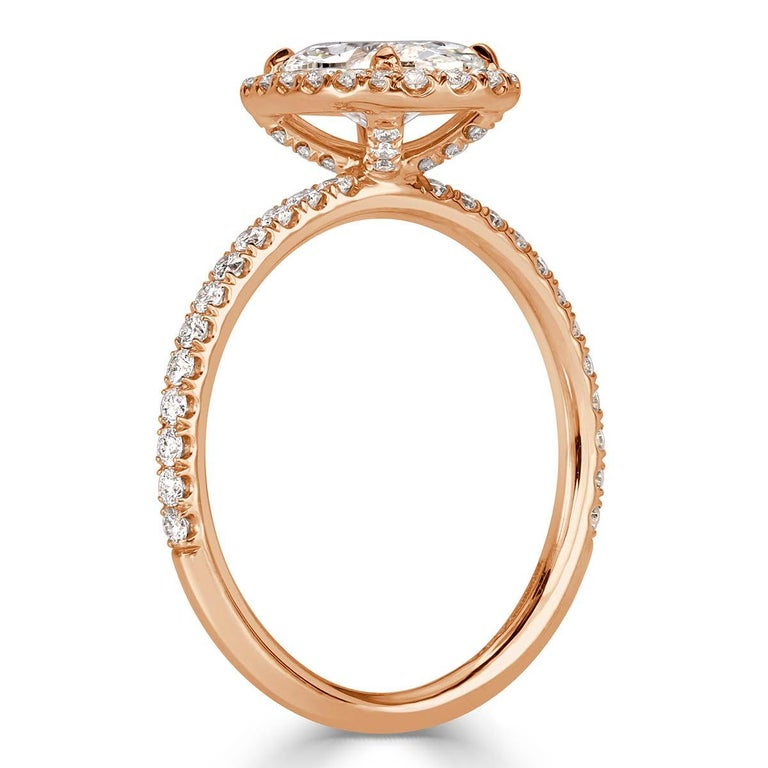 Mark Broumand 2.18 Carat Oval Cut Diamond Engagement Ring In New Condition For Sale In Los Angeles, CA