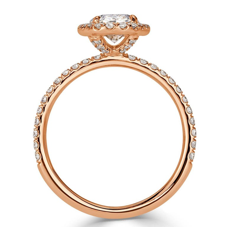 Women's or Men's Mark Broumand 2.18 Carat Oval Cut Diamond Engagement Ring For Sale