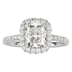 Mark Broumand 2.19 Carat Radiant Cut Diamond Engagement Ring