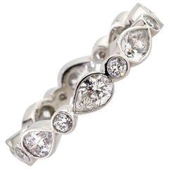 Mark Broumand 2.20 Carat Pear Shaped Diamond Eternity Band