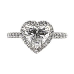 Mark Broumand 2.22 Carat Heart Shaped Diamond Engagement Ring