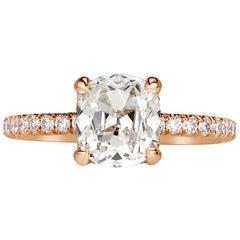 Mark Broumand 2.26 Carat Old Mine Cut Diamond Engagement Ring