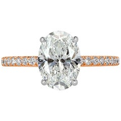 Mark Broumand 2.26 Carat Oval Cut Diamond Engagement Ring