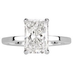 Mark Broumand 2.30 Carat Radiant Cut Diamond Engagement Ring