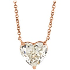 Mark Broumand 2.32 Carat Heart Shaped Diamond Pendant