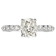 Mark Broumand 2.33 Carat Old Mine Cut Diamond Engagement Ring