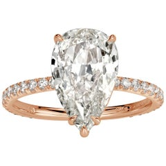 Mark Broumand 2.38 Carat Pear Shaped Diamond Engagement Ring