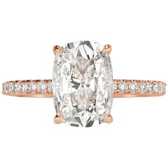Mark Broumand 2.39 Carat Old Mine Cut Diamond Engagement Ring
