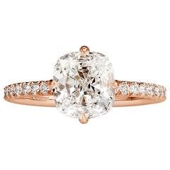 Mark Broumand 2.40 Carat Old Mine Cut Diamond Engagement Ring