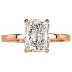 Mark Broumand 2.40 Carat Radiant Cut Diamond Engagement Ring