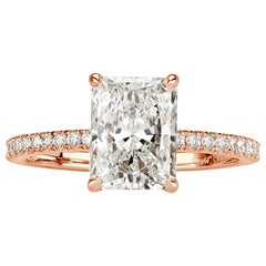 Mark Broumand 2.44 Carat Radiant Cut Diamond Engagement Ring