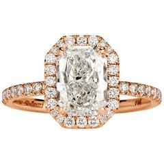 Mark Broumand 2.46 Carat Radiant Cut Diamond Engagement Ring