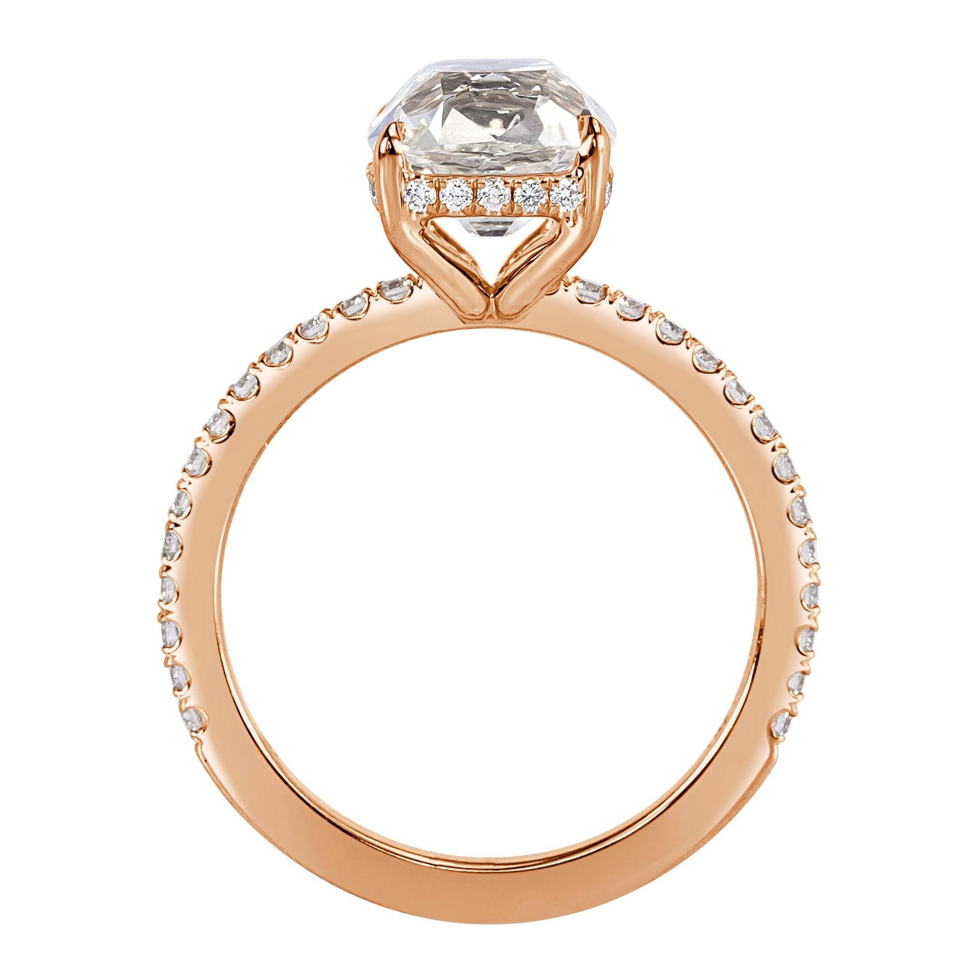 Mark Broumand 2.47 Carat Old Mine Cut Diamond Engagement Ring