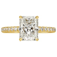 Mark Broumand 2.48 Carat Radiant Cut Diamond Engagement Ring