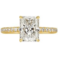 2,53 Karat Radiant-Schliff Diamant Verlobungsring