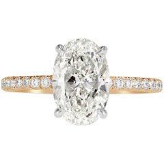 Mark Broumand 2.57 Carat Oval Cut Diamond Engagement Ring