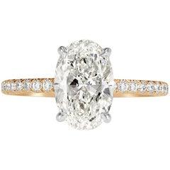 Mark Broumand 2.57 Carat Oval Cut Diamond Engagement Ring