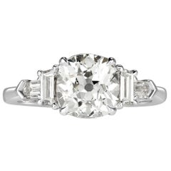 Mark Broumand 2.58 Carat Old Mine Cut Diamond Engagement Ring