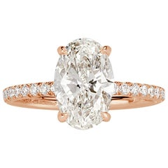 Mark Broumand 2.58 Carat Oval Cut Diamond Engagement Ring