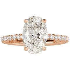 Mark Broumand 2.58 Carat Oval Cut Diamond Engagement Ring