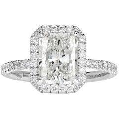 Mark Broumand 2.62 Carat Radiant Cut Diamond Engagement Ring