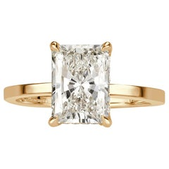 Mark Broumand 2.64 Carat Radiant Cut Diamond Engagement Ring