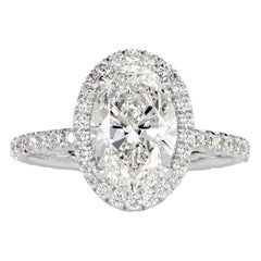 Mark Broumand 2.66 Carat Oval Cut Diamond Engagement Ring