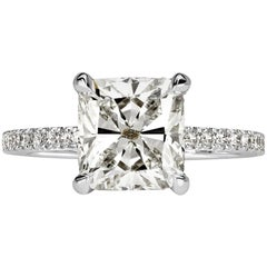 Mark Broumand 2.69 Carat Cushion Cut Diamond Engagement Ring