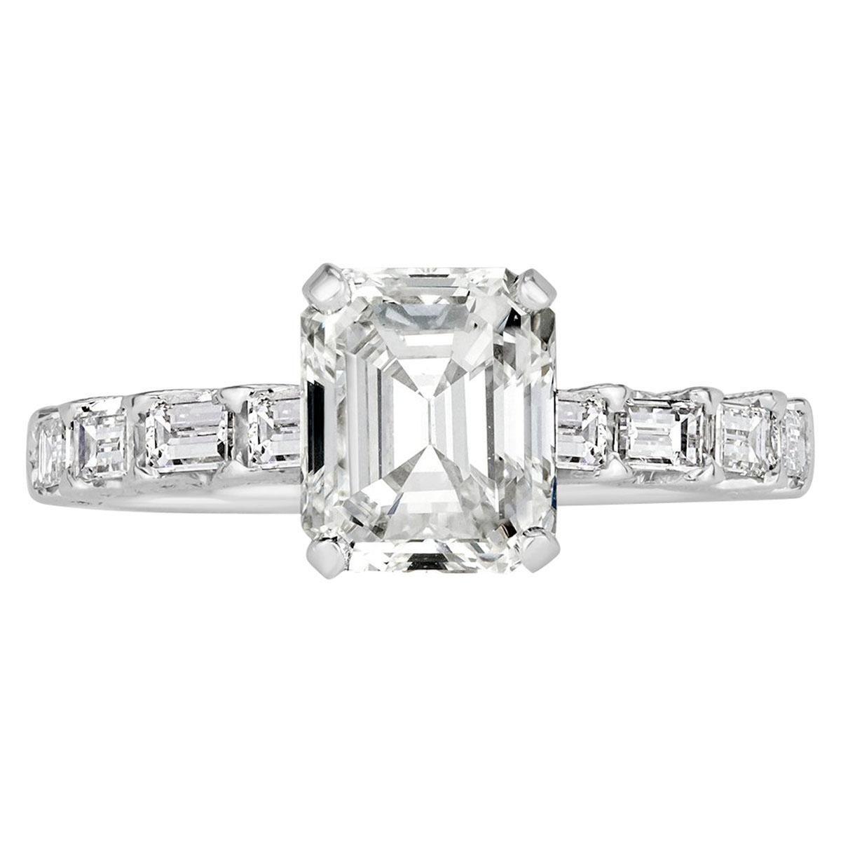 Mark Broumand 2.70 Carat Emerald Cut Diamond Engagement Ring