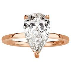 Mark Broumand 2.71 Carat Pear Shaped Diamond Engagement Ring