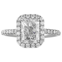Mark Broumand 2.77 Carat Radiant Cut Diamond Engagement Ring
