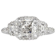 Mark Broumand 2.81 Carat Cushion Cut Diamond Engagement Ring