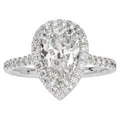 Mark Broumand 2.81 Carat Pear Shaped Diamond Engagement Ring