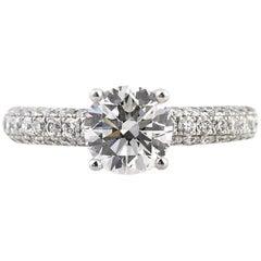 Mark Broumand 2.81 Carat Round Brilliant Cut Diamond Engagement Ring