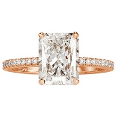 Mark Broumand 2.82 Carat Radiant Cut Diamond Engagement Ring