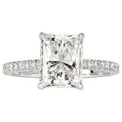 Mark Broumand 2.88 Carat Radiant Cut Diamond Engagement Ring