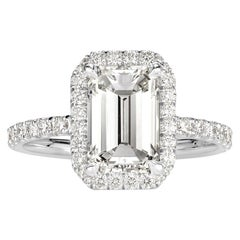 Mark Broumand 3.10 Carat Emerald Cut Diamond Engagement Ring
