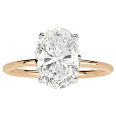 Mark Broumand 3.13 Carat Oval Cut Diamond Engagement Ring