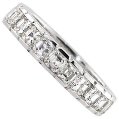 Mark Broumand 3.20 Carat Asscher Cut Diamond Eternity Band