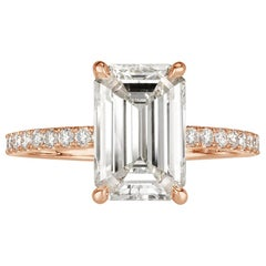 Mark Broumand 3.49 Carat Emerald Cut Diamond Engagement Ring