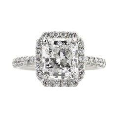 Mark Broumand 4.23 Carat Radiant Cut Diamond Engagement Ring