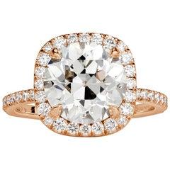 Mark Broumand 4.33 Carat Old European Cut Diamond Engagement Ring