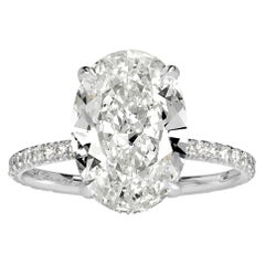 Mark Broumand 4.54 Carat Oval Cut Diamond Engagement Ring