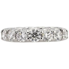 Mark Broumand 5.00 Carat Round Brilliant Cut Diamond Eternity Band
